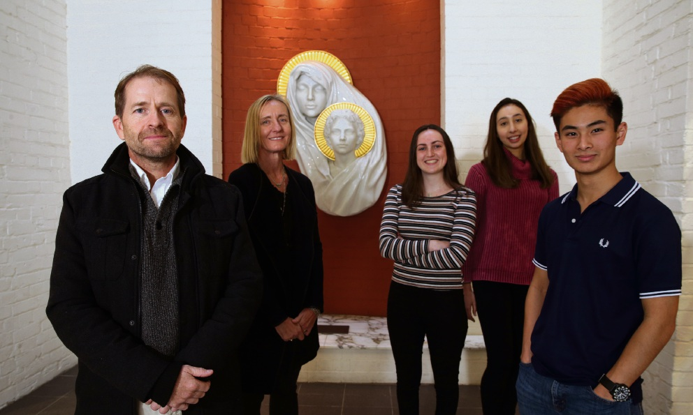 Dr David Rutherford and registered nurse Helen De Kleine from Travel Health Plus with Notre Dame  physiotherapy students Aliisha Cleary, Letisha Carozza and Matthew Lauw. Picture: Martin Kennealey www.communitypix.com.au   d472111