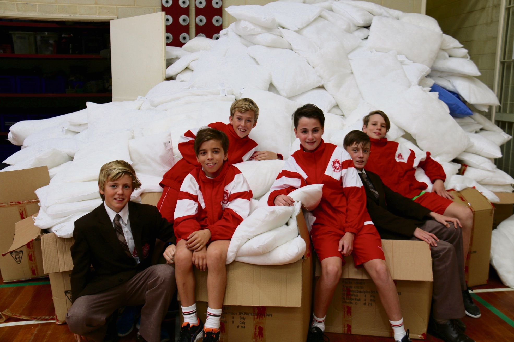 Nick Emes, Max Wood, Vincent Pettinicchio, Tom Woods and Oliver Frost.