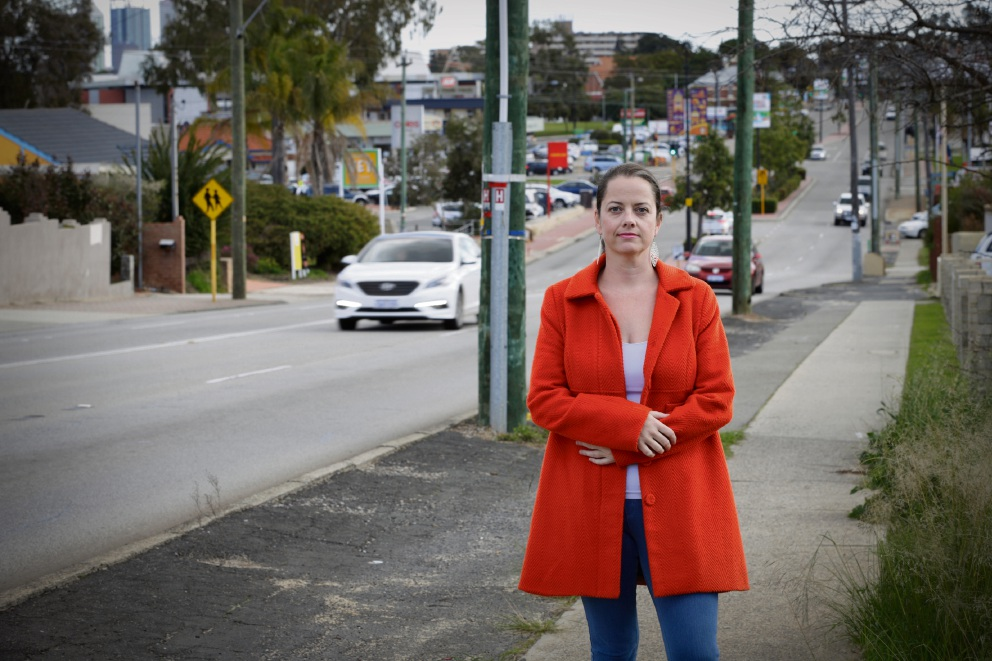 Guildford Road resident Kate Thomson heads the new Guildford Road Revival group.  Picture: Andrew Ritchie    d472274