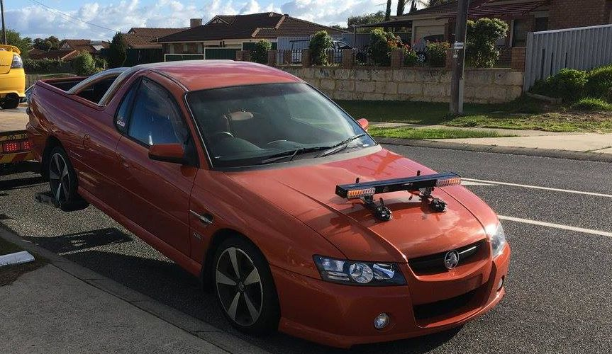 The seized ute. Picture: WA Police/Facebook
