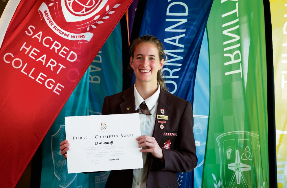Chloe Metcalf  from Sacred Heart College. Picture: Martin Kennealey d470704