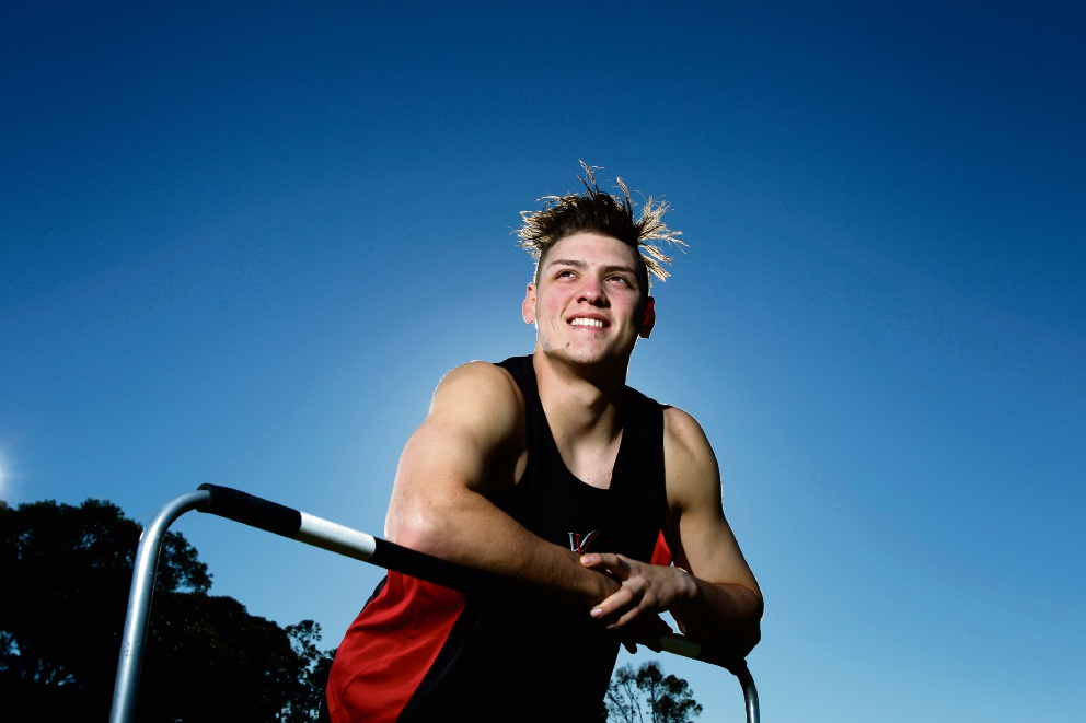 Warwick Senior High School student and athlete Kyle Caplan. Picture: Marie Nirme d470899