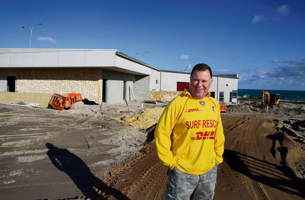 Yanchep Surf Lifesaving Club president John Heesters at the site of the club's new base. Picture: Martin Kennealey  d472313