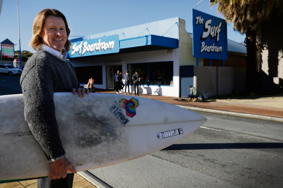 Wayne Bowen is taking The Surf Boardroom across the road. Picture: Andrew Ritchie www.communitypix.com.au d472230