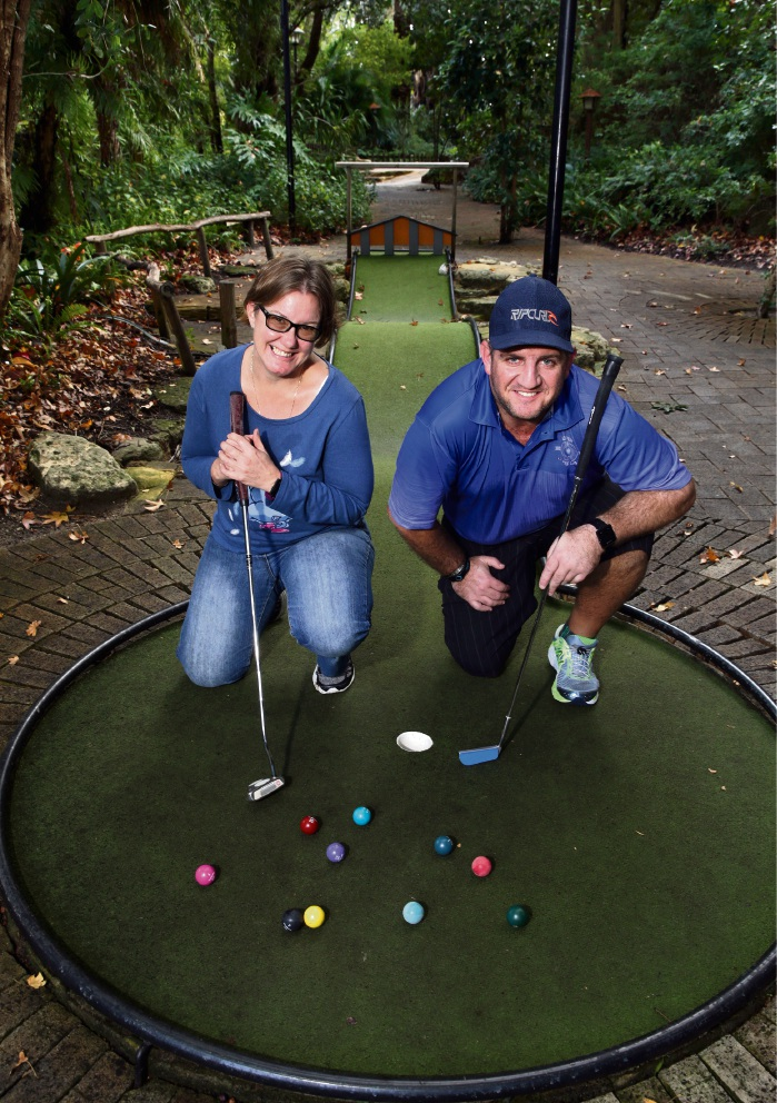 Belinda August and David Maiolo are competing in the World Minigolf Championships in Croatia next month. Picture: Martin Kennealey|