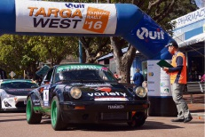 Peter Major and Greg Flood in a 2004 Porsche 996 on Haynes Street in Kalamunda. Picture: Josh Cochrane