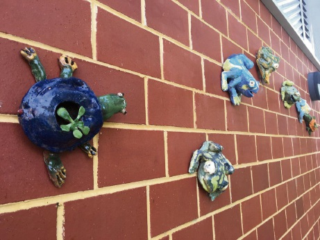 Students of Dalkeith Primary School worked with artist in residence Amanda Shelsher to create a sculpture garden.