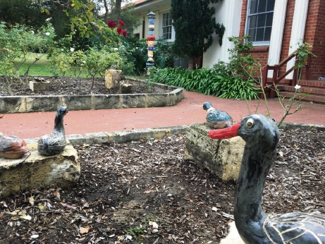 Wildlife, like these ducks, featured strongly in Dalkeith Primary School's new sculpture garden.