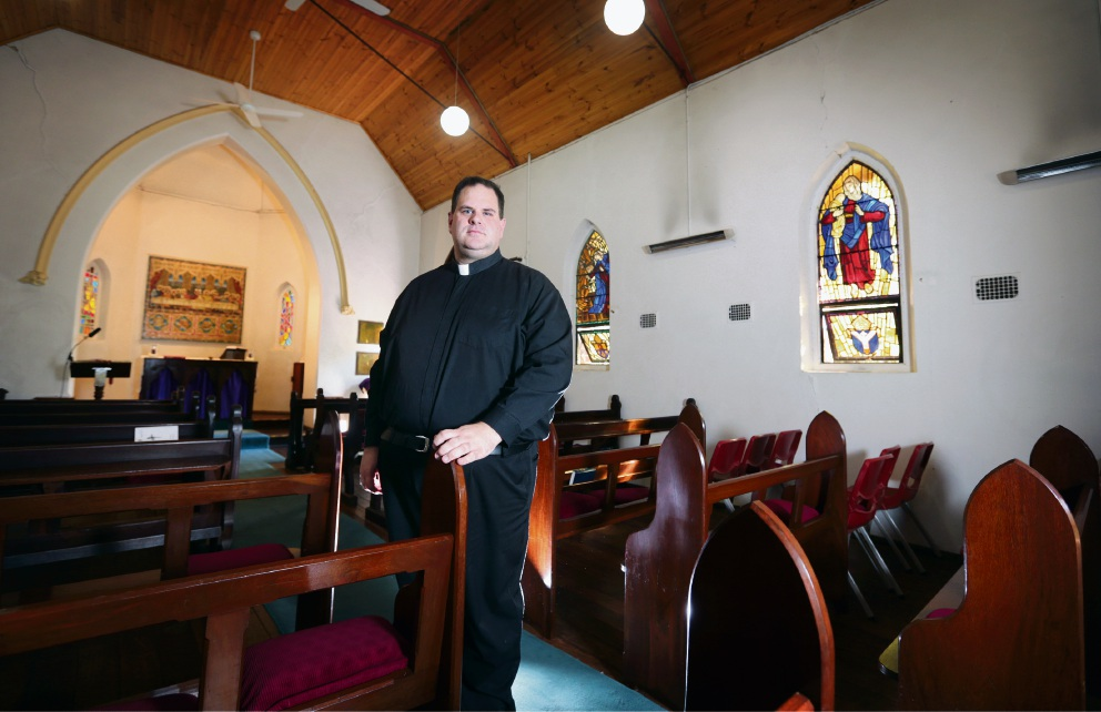Chris Bedding, rector at St  Cuthbert's Church in Darlington-Bellevue says politicians should legalise gay marriage.