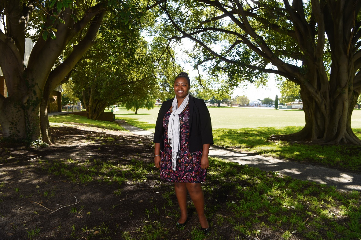 Grace Mugabe at home in Perth. The Victoria Park resident spoke recently at the Hive Global Leaders Program at Harvard University. Picture: Jon Hewson  d472304