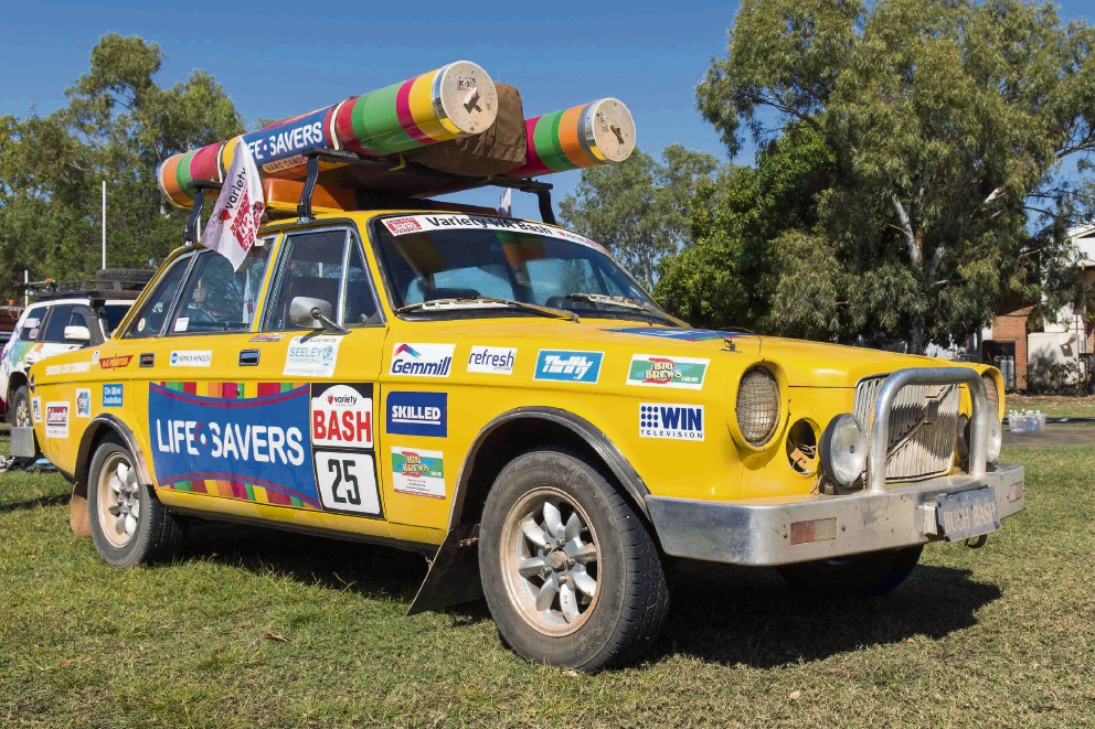 Don and Darinka Brooker's Life Savers-themed car Cottesloe, which they will be driving for this year's Variety Bash.