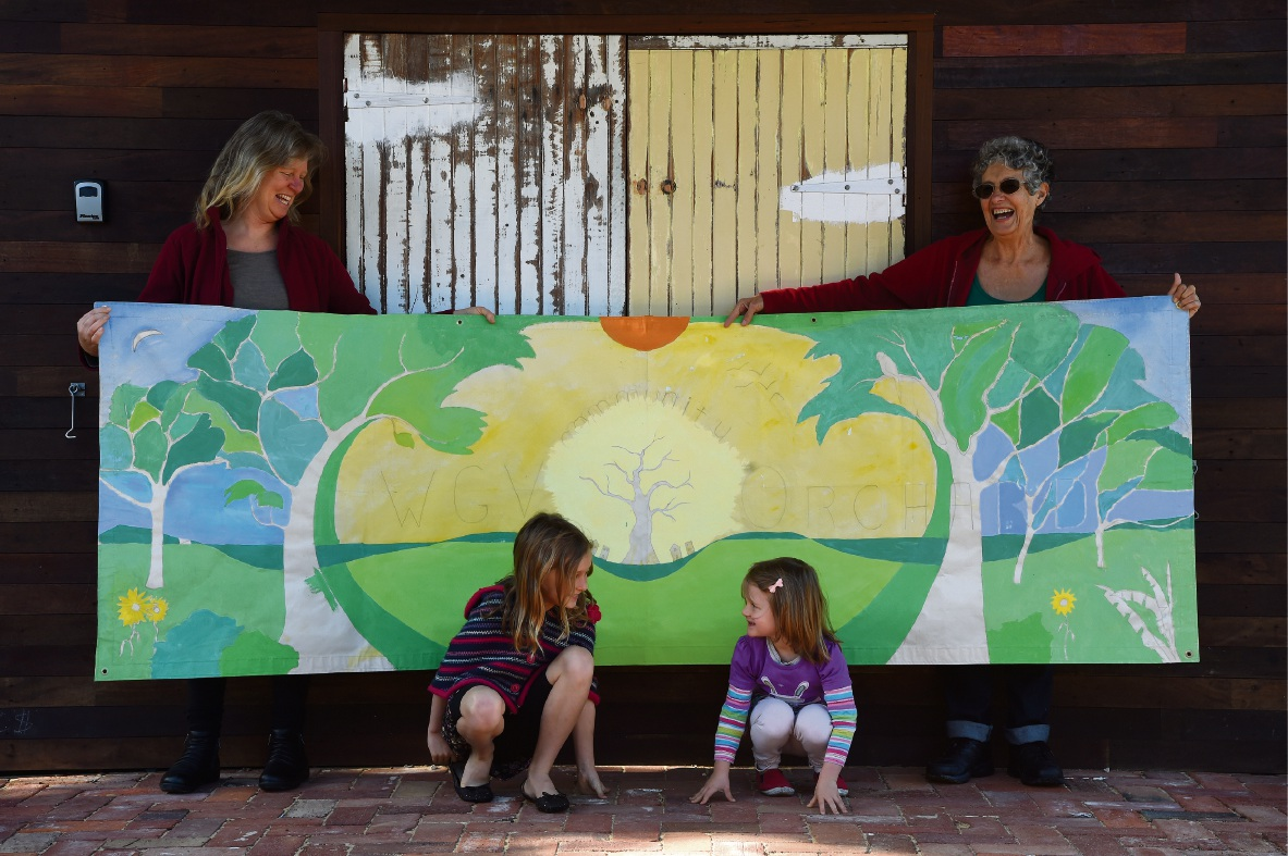 The artwork design reflects the White Gum Valley orchard's vision.