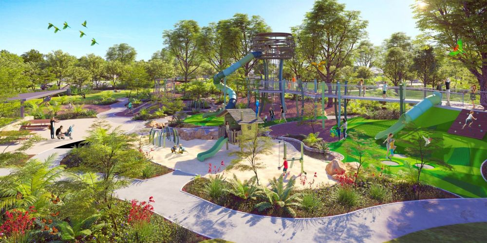 An artist's impression of the new park. Photo:  Whiteman Edge.