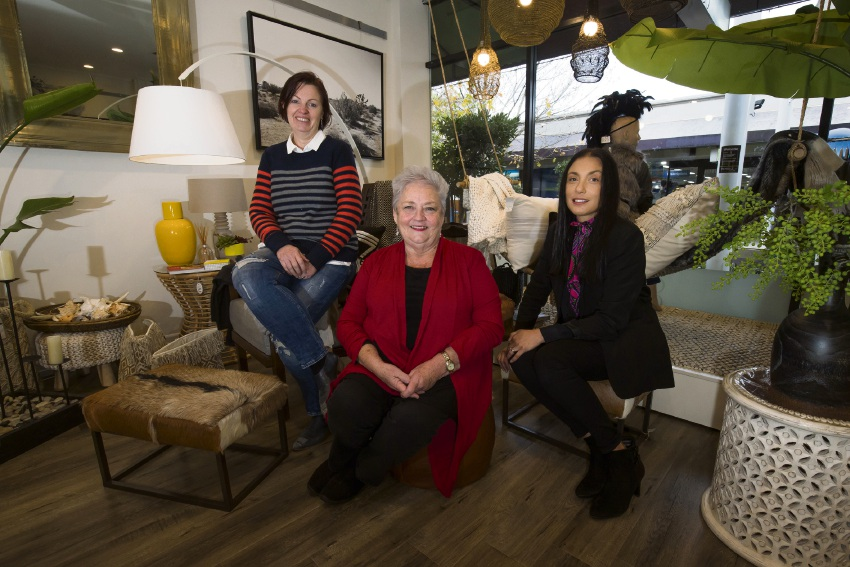 Olive & Coco owners Leisa Nash and Lynne Lawson with fashion retail support consultant Michelle Cooke.