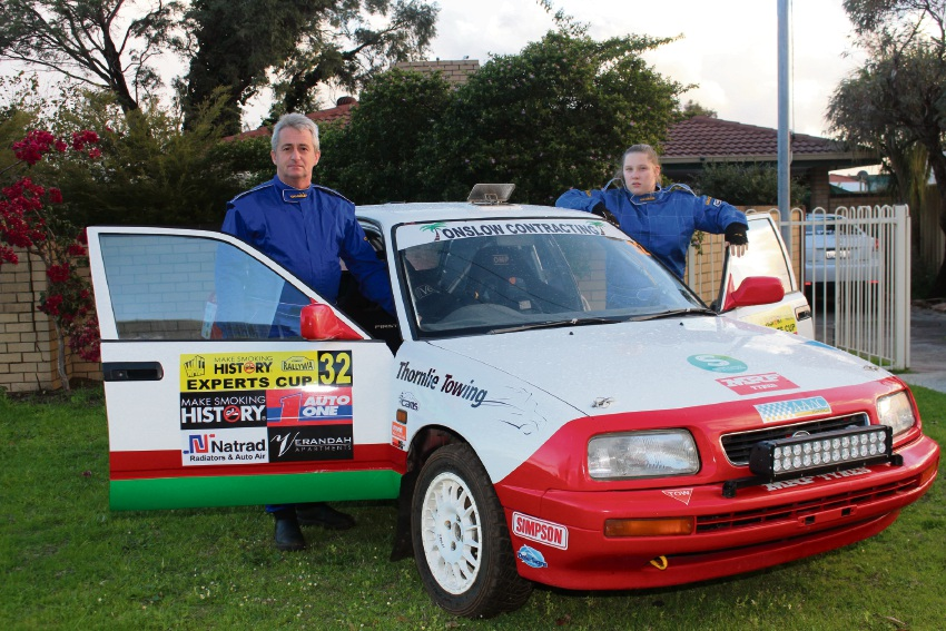Young gun: Rally driver Monique Smith, who at 14 is too young to drive legally and needed special permission to compete, with co-driver Terry Hughes.