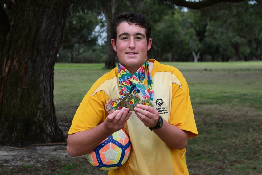 Thornlie resident Christopher Johnstone (15) not only won gold medals at last month's Special Olympics Junior National Games on the Gold Coast, he won them in different sports.