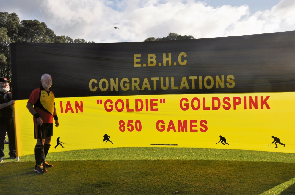 Enduring love: Beeliar man Ian Goldspink playing his 850th game in the sport he loves
