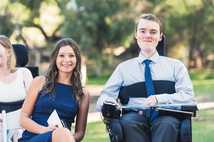 Redcliffe resident Mariah Campana with Dylan Needham, who is the motivation behind her attempt at the Dwellingup 100 mountain bike event for muscular dystrophy.