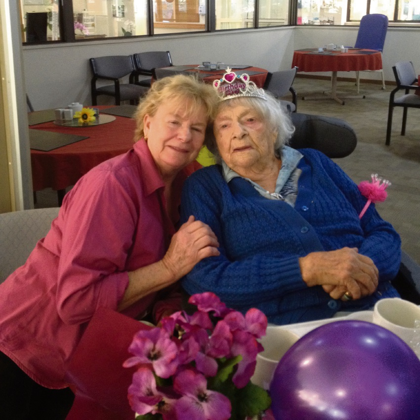 Bea who recently turned 105, with her daughter Bobbie, who lives in Parkerville.