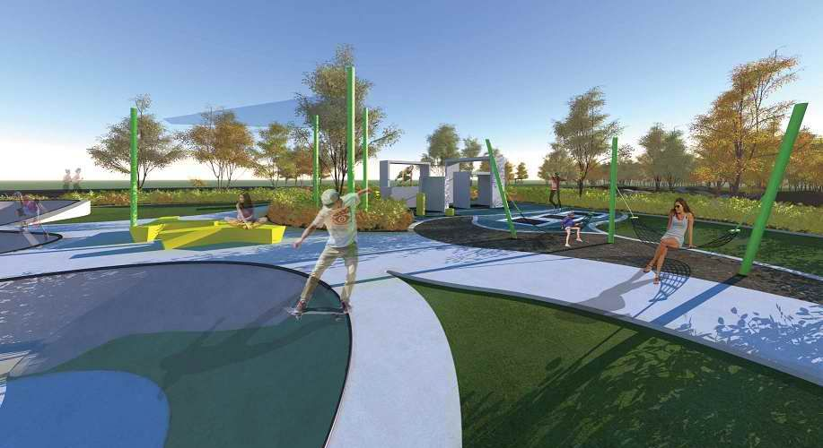 An artist's impression of what the spruced up Wallington Park will look like after the upgrade.