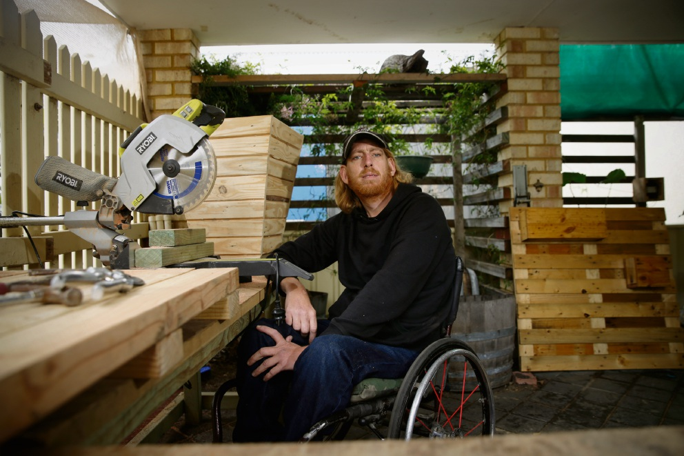 Clint Van Roon wood like to get a business up and running. Picture: Andrew Ritchie    d472515