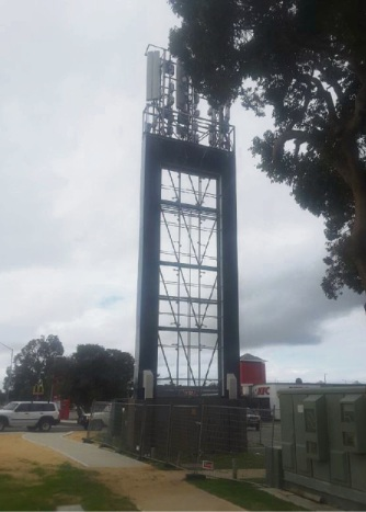 The tower before the sign blocked the antennas.