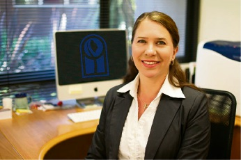 New Mater Dei College principal Annette Morey is back at the school she taught at for many years.