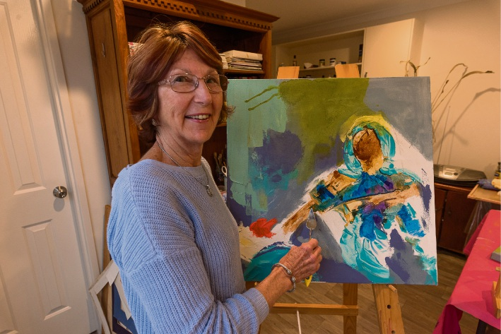 Mary Lange will bring Caribbean colour to Atwell Gallery's art awards. Picture: Emma Geary