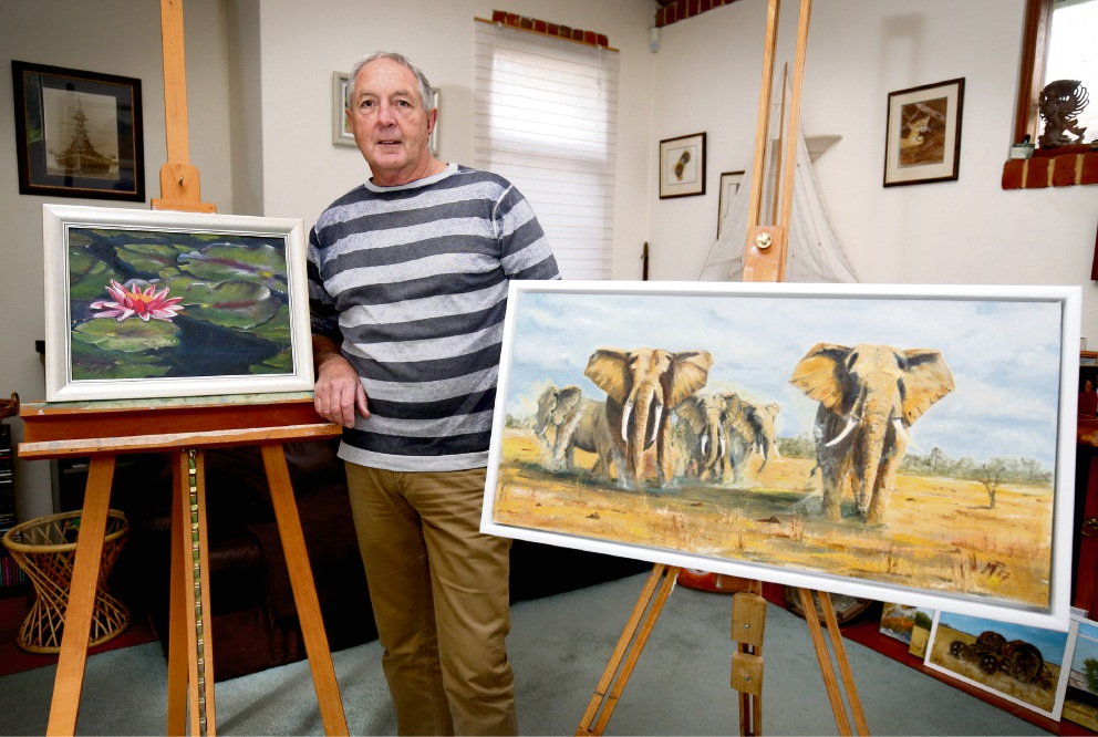 Travel and time have changed the focus of Mark Price's art. Picture: Matt Jelonek www.communitypix.com.au d472371