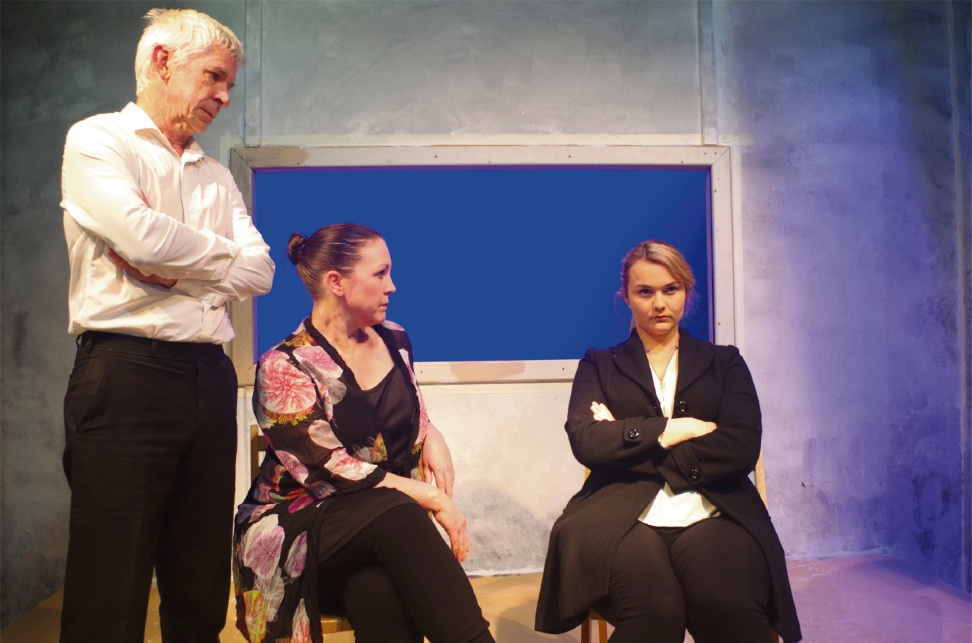 Parents Ron (Michael Balmer) and Natasha (Gillian Binks) are unhappy with their daughter Emma (Catherine Dunn) in David Williamson's play Let The Sunshine.