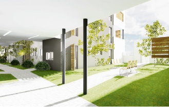 Plan of entry courtyard from Strive Loop. Residents in Girrawheen are not happy over plans to build the apartment complex.