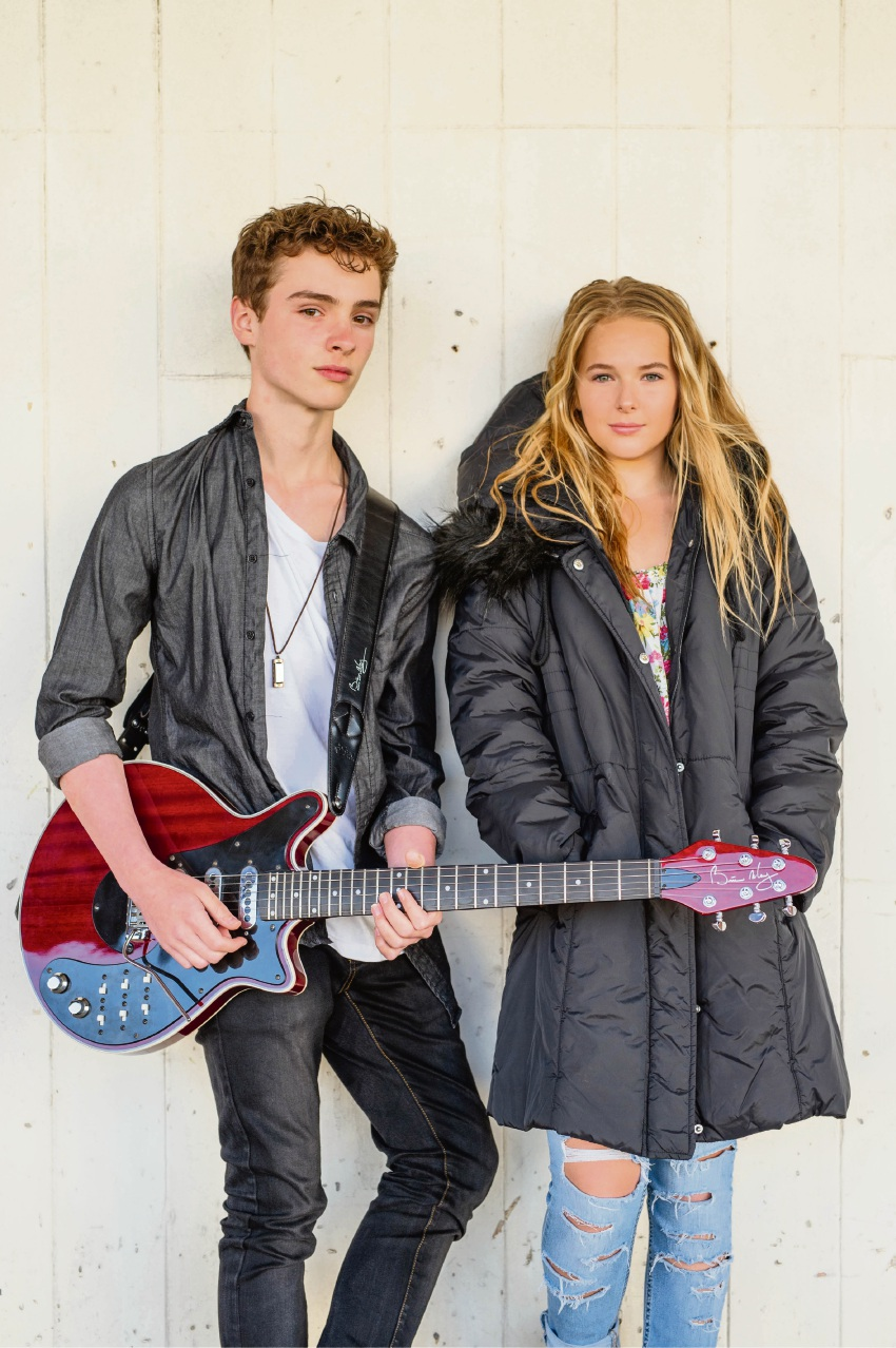 Talented teens: Calvin Bennett and Farraday Tween, or Farraday's Cage, have been singled out by triple j Unearthed.