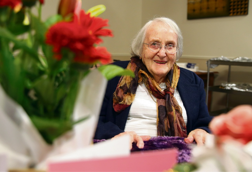 Dorothy Jamieson had her 106th birthday recently. Picture: Martin Kennealey  d472655