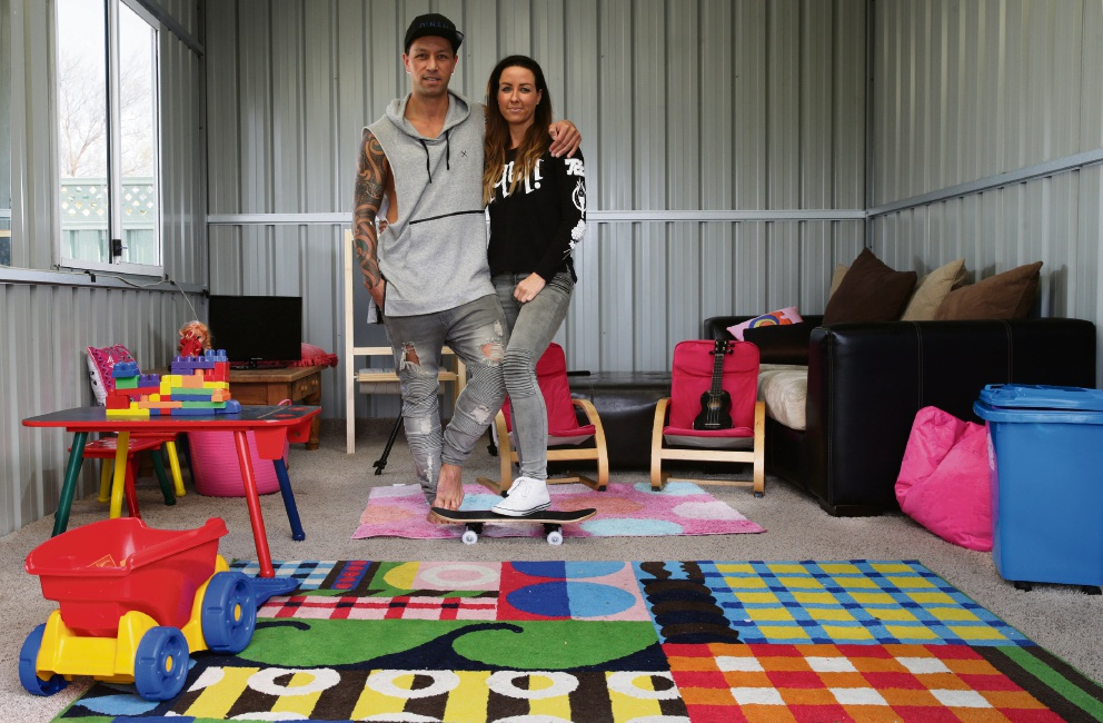 Ben and Ria Merito of Ocean Reef have open their home to three foster kids. Picture: Martin Kennealey d472751