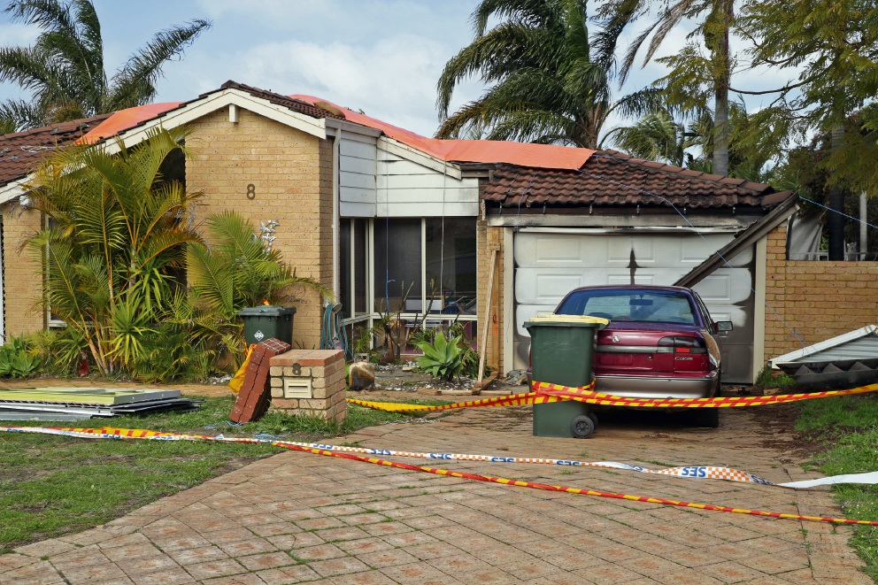 The damaged home on Monday. Picture: Martin Kennealey  d472741