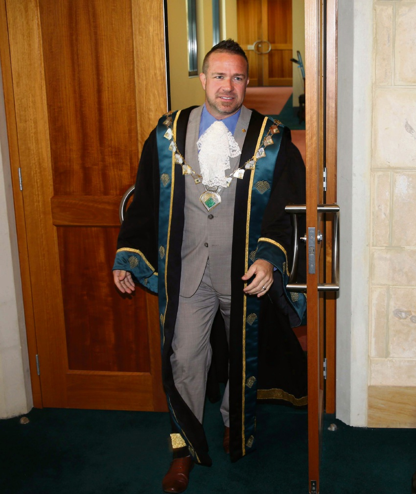Mayor Troy Pickard wore the mayoral robes in recognition of the occasion.