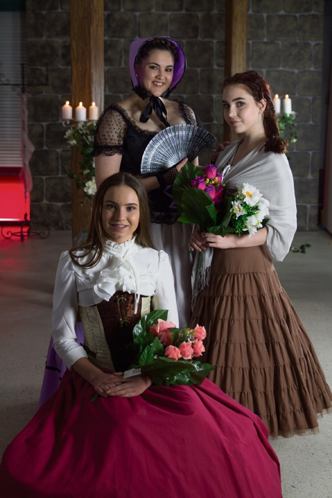 Stephanie Stockbauer (16), Emma Law (14) and Jacinta Baxter (16).