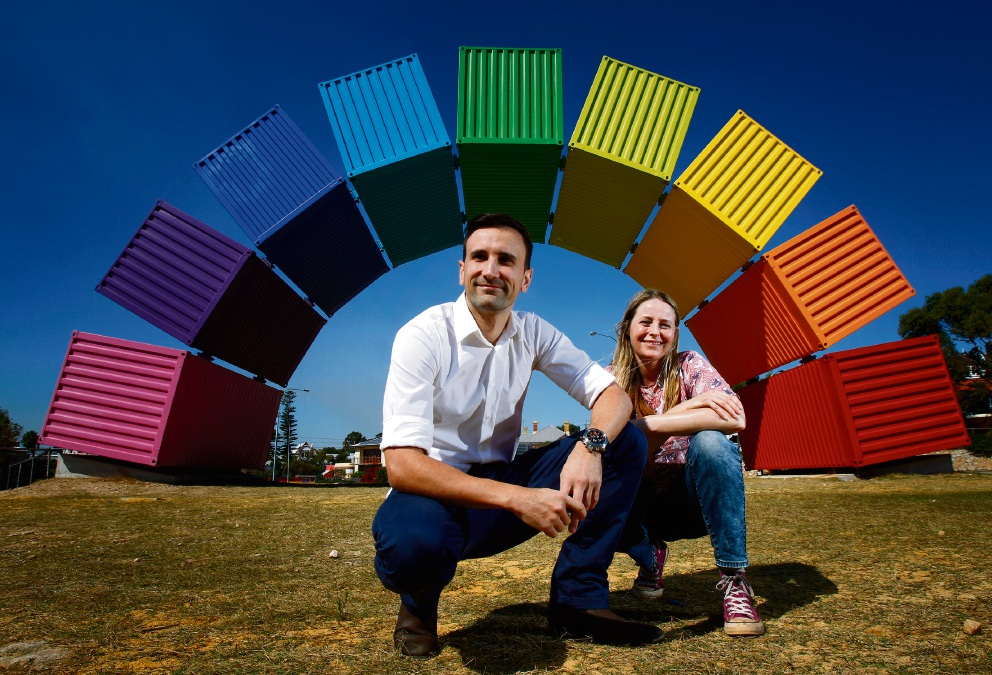 Illustrator Moira Court and author Ezekiel Kwaymullina have collaborated on a new children's book called Colour Me. Picture: Marie Nirme