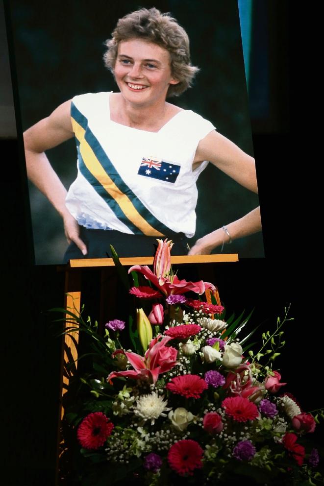 Golden Girl Betty Cuthbert farewelled at Mandurah Performing Arts Centre