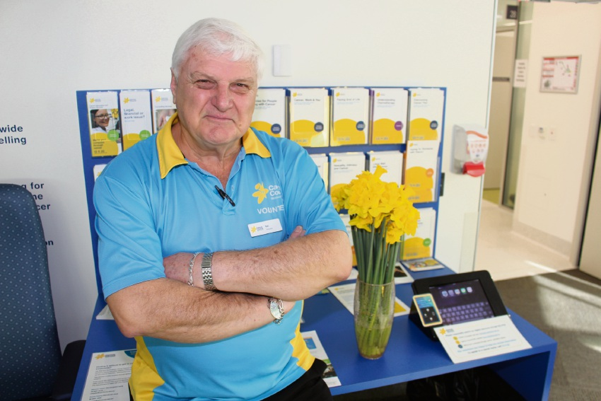 Cancer Council volunteer Ian Hancock.