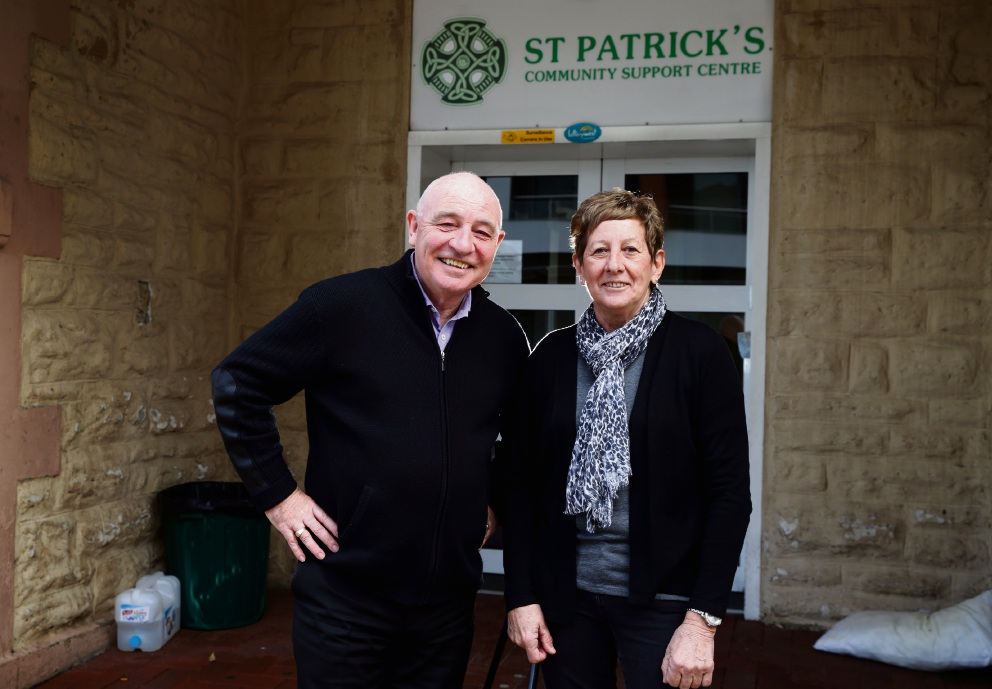 St Patrick's CEO Steve McDermott and manager Helen Cattalini. Picture: Martin Kennealey www.communitypix.com.au   d472874