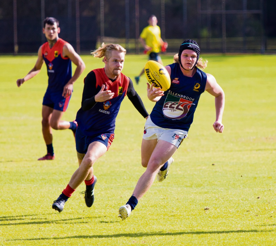 Founders Medal winner Logan Ashby in action for the Eels. Picture: Aaron Diss