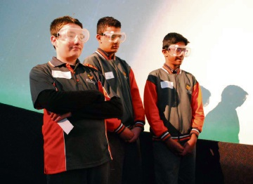 Baldivis Secondary College Team 2 Nathan Dillon, Kingston Te Mete, and Akins Sujith.
