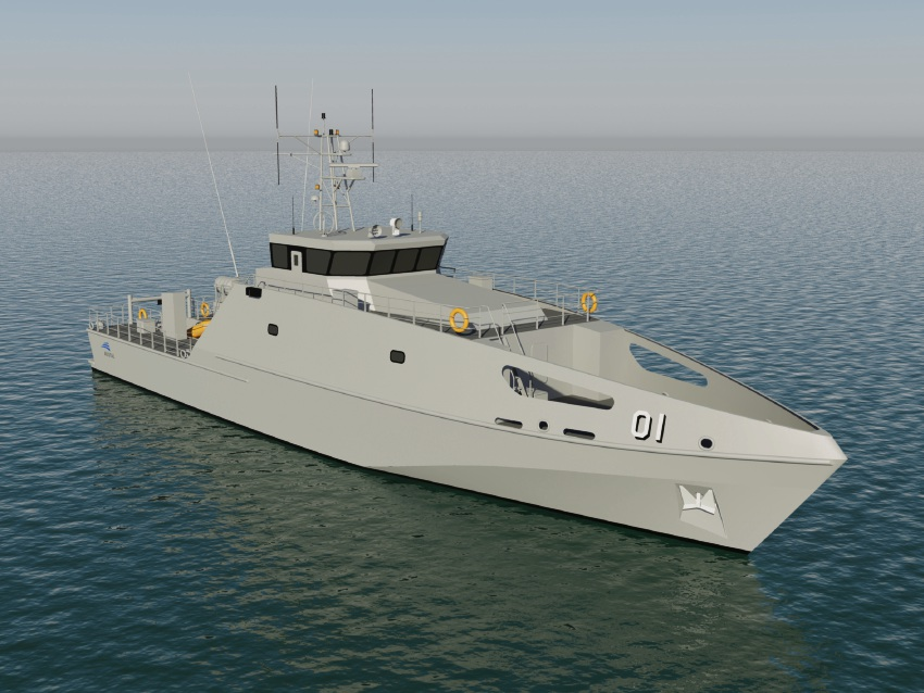 An artist's impression of the patrol boats.