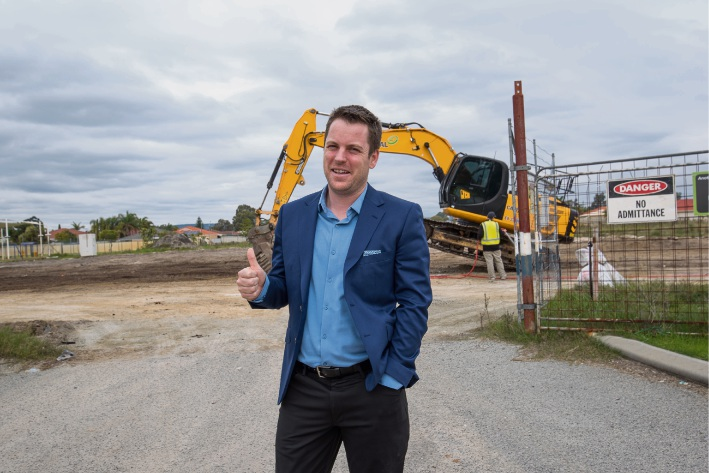 Councillor Jesse Jacobs is pleased derelict shops in East Cannington have been demolished.