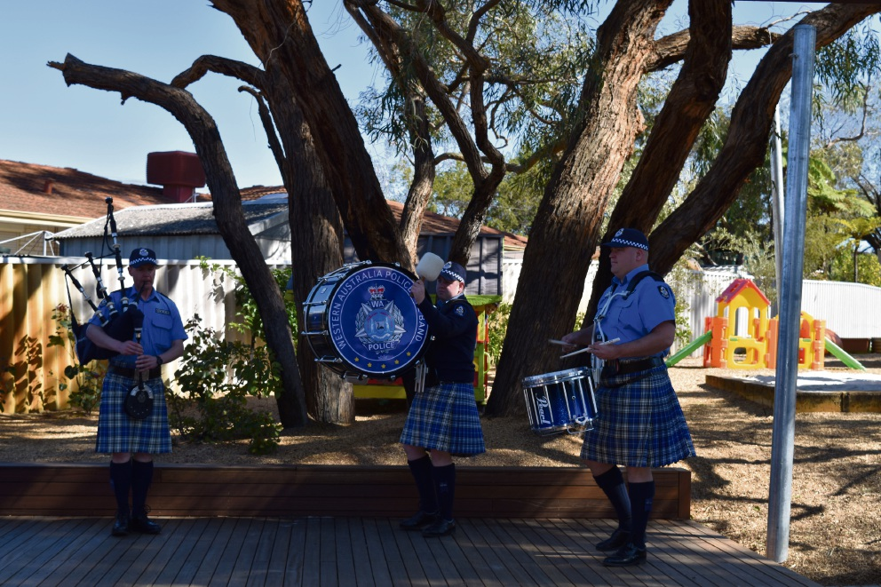 Police Pipe Band.