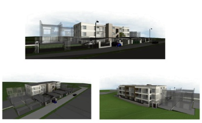 Artist impressions of the three-storey apartment complex approved for the former East Greenwood Primary School site.