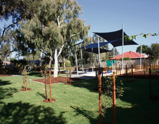 Keston Place Reserve before and after its transformation.