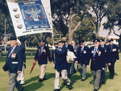 Mandurah-Murray sub-branch of the National Servicemens Association were represented in the parade.