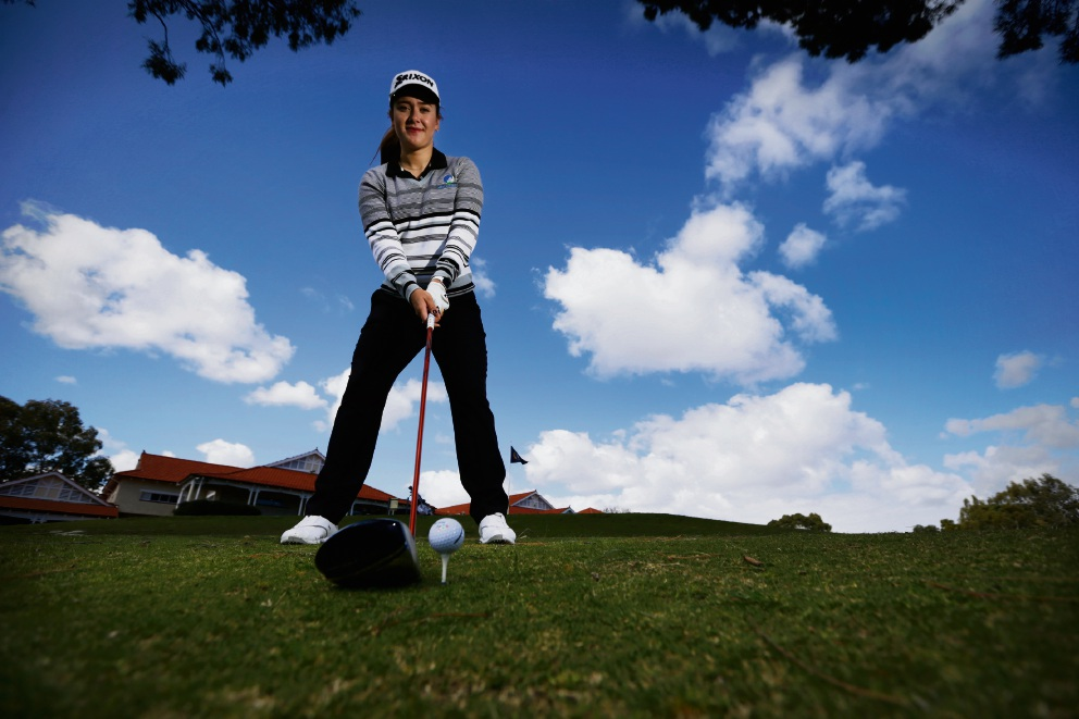 Hannah Green (20) from Lathlain is an up and coming golf star. Picture: Andrew Ritchie